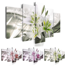 ( No Frame ) Canvas Print Modern Fashion Wall Art the Lily Flower for Home Decoration Choose Color(red,green,purple) & Size:3