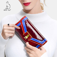 Women S Wallet Genuine Leather Lady S Purse Long Alligator Hasp Clutch Bag 2018 New Female