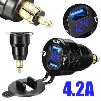 4.2A Алюминий Dual USB Автомобильное зарядное устройство прикуривателя адаптер Напряжение Дисплей зарядное устройство для мотоцикла для BMW F800 ... >> Biu Biu Car Store