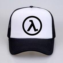 Adults hombres casual Hipster Basic Tops Funny Half Life 2 logo print  Cotton Baseball caps Man Women mesh Trucker Cap Hat 70948ae77e66