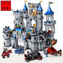 Enlighten 1023 Medieval War Castle Soldier Knights Lion Castle Minifigure Assemble Building Block   Toys Compatible with Legoe