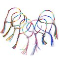 9 х хиппи стиль плетеные нити дружбы браслеты запястья лодыжки браслет-радуга цвет