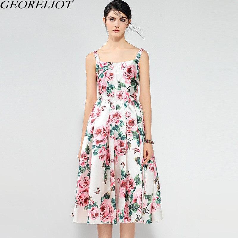 2018 جديد أزياء الصيف فستان ماركة - ملابس نسائية