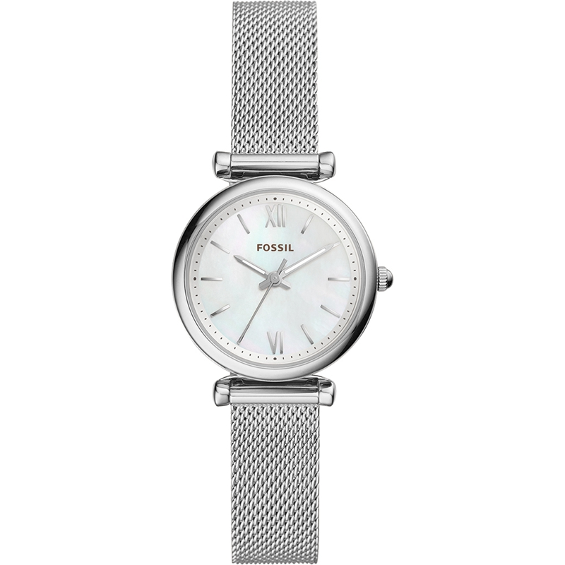FOSSIL Women Quartz Watches Carlie Mini Three Hand Stainless Steel Watch Silver Wrist Watches for Women Stylish ES4432P|Women's Watches| |  - title=