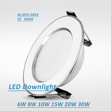 Led Downlights 6W 8W 10W 15W 20W 30W 220V LED Ceiling Downlight 2835 Lamps Led Ceiling Lamp Home Indoor Lighting