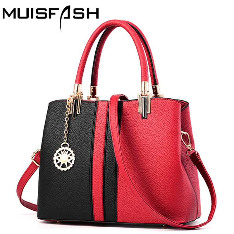 spring new fashion women handbag designer leather women bags high quality patchwork shoulder bag ladies tote bolsas bags LS1080 high quality shoulder bags designer 2017 handbag ladies small chain shoulder bags women bag bolsas fashion women s handbags