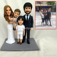 Anime wedding Toys Briday Diy Statue Personalized Custom Polymer Clay Doll From Pictures Christmas Gift Pre sale for Boyfriend