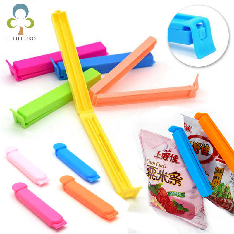 10Pcs/lot Portable New Kitchen Storage Food Snack Seal Sealing Bag Clips Sealer Clamp Plastic Tool  GYH