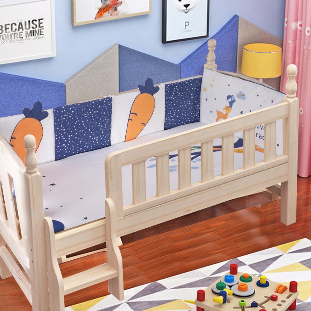 Bébé lit pare-chocs pour les nouveau-nés coussin bébé pare-chocs cerf carotte étoiles ciel motif infantile berceau Protection ensembles nouveau bébé chambre décor