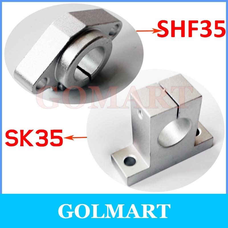 2pcs Rail Linear Motion Shaft Support CNC Aluminum Bearing  SHF-35 35mm Freeship