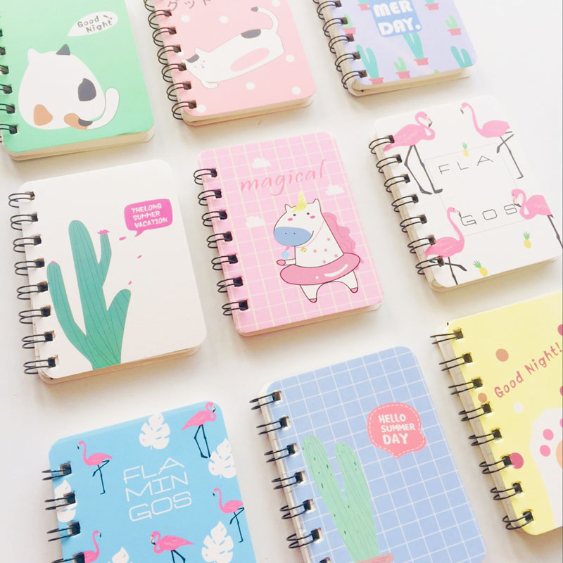 80 Sheets Hard Cover Cactus Flamingo Cat Portable Notebook To Do List School Office Supply Student Stationery Notepad