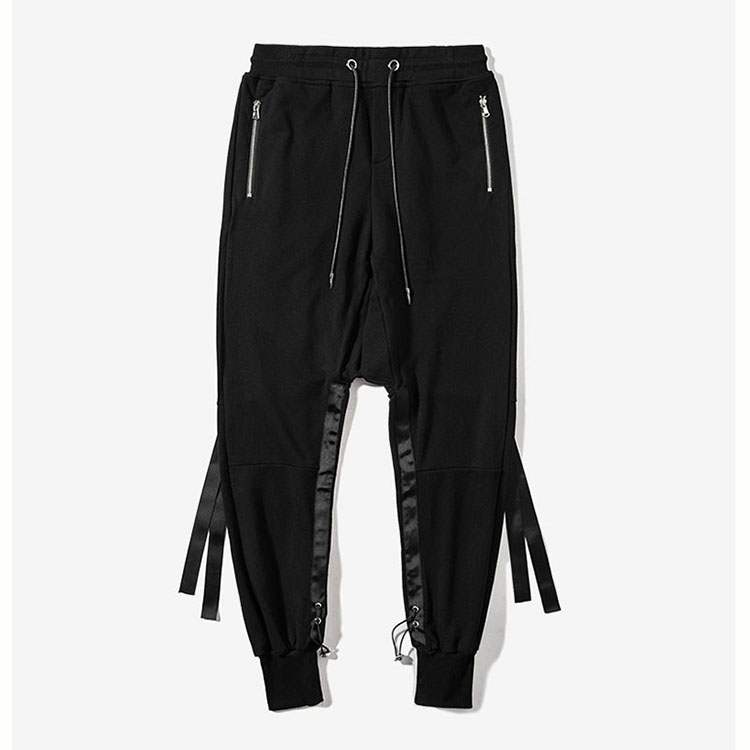 Aolamegs Mens Harem Pants Hip Hop Dancing Cross-pants Ribbon Fashion Street Male Joggers Pants 2017 Autumn New Casual Trousers (4)