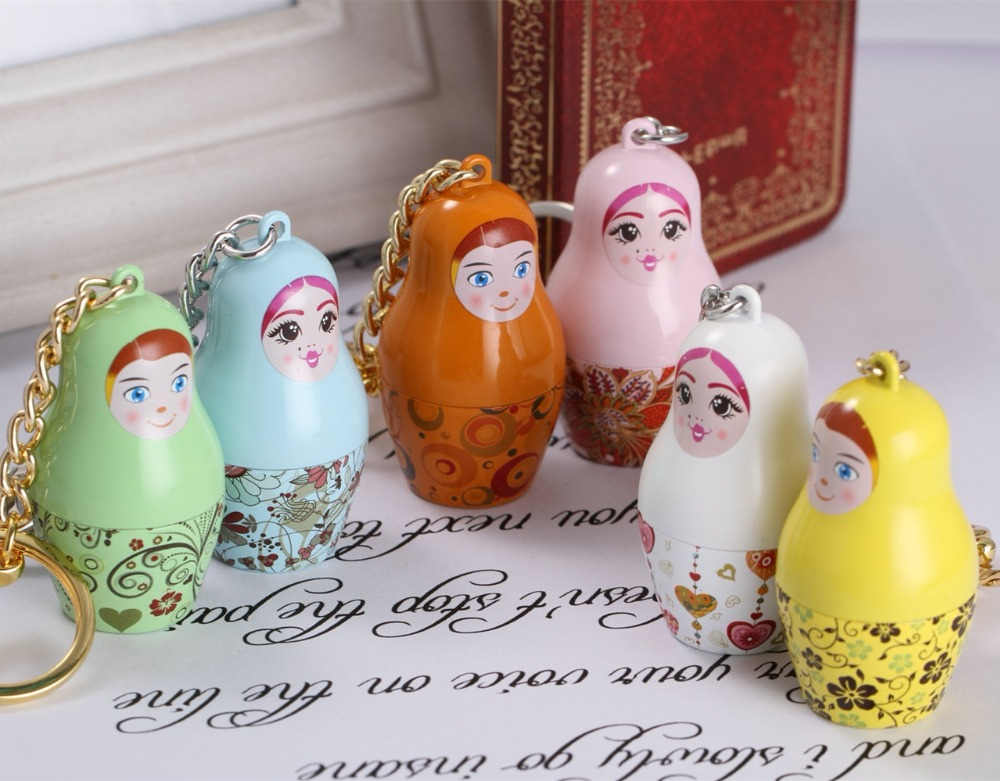10pcs lot Wholesale Russian Souvenir Cute Matryoshka Doll Keychain Wedding Gifts for Guests Souvenirs Keyring
