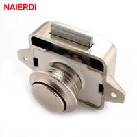 3PCS NAIERDI Camper Car Push Lock Diameter 26mm RV Caravan Boat Motor Cabinet Drawer Latch Button Locks For Furniture Hardware