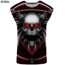 KYKU Brand Skull Tank Top Men Punk Tanktop Gothic Undershirt Rock Stringer Ftness Clothing Singlet Sleeveless Shirt 2018