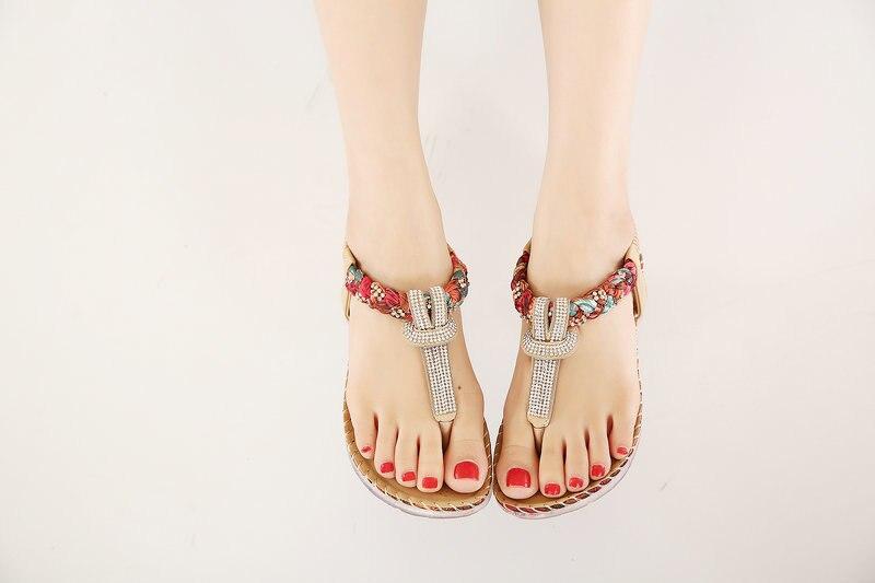 UMMEWALO Summer Sandals Women T-strap Flip Flops Thong Sandals Designer Elastic Band Ladies Gladiator Sandal Shoes Zapatos Mujer