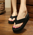 2017 New Black High Heel Bath Slippers Ladies Non-slip Platform Shoes Women Summer Bathroom Slippers EVA Indoor Flip Flop Sandal