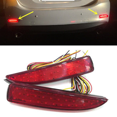 For MAZDA 6 2016 2015 2014 2pcs Rear fog lamp Assembly Brake Highlight with turn signals Tail Fog Light Car Accessories