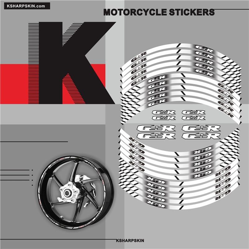 Motorcycle Inner Wheel Stickers Rim Reflective Decoration Decals Fit SUZUKI GSR All