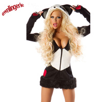2017 Hot adult woman halloween costumes animal cosplay women Panda Costume , Panda costumes for adults