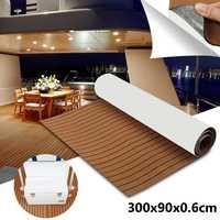 1 Roll 3000x900mm 6mm Self-Adhesive EVA Foam Boat Yacht RV Caravan Marine Flooring Faux Teak Boat Decking Sheet Floor Decor Mat