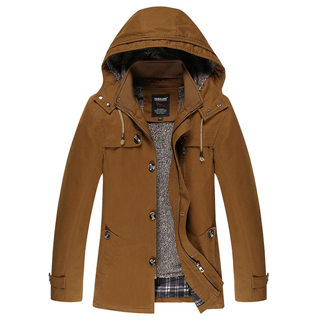 2018 Autumn And Winter The New Style Of Men's Coat Cotton Plus Cashmere Thickening Men's Windbreaker Men Jackets D162
