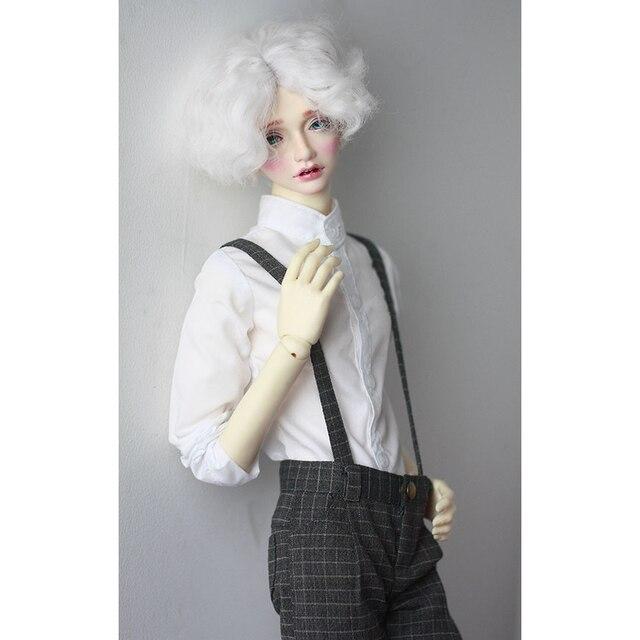 """BJD Doll białe stroje z koszulą najlepsze ubrania dla mężczyzn 1/4 1/3 SD17 70cm 17 """"24"""" wysokie BJD lalki MSD SD DK DZ AOD DD lalki użyj HEDUOEP"""