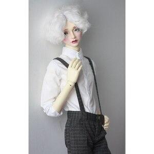 """Image 1 - BJD Puppe Weißes Hemd Outfits Top Kleidung Für Männliche 1/4 1/3 SD17 70 cm 17 """"24"""" Hoch BJD puppe MSD SD DK DZ AOD DD Puppe verwenden HEDUOEP"""