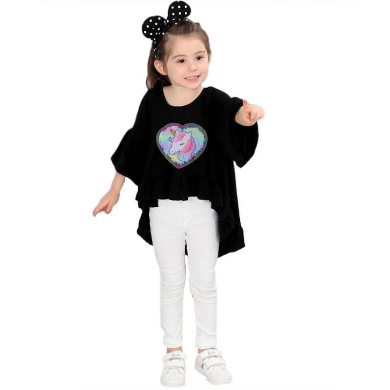 f925856b52 Prajna Unicorn Patches Reversible Change Color Magic Rainbow Sequins Patch  Jacket DIY Dress Kid Clothing Applique Letter Sticker