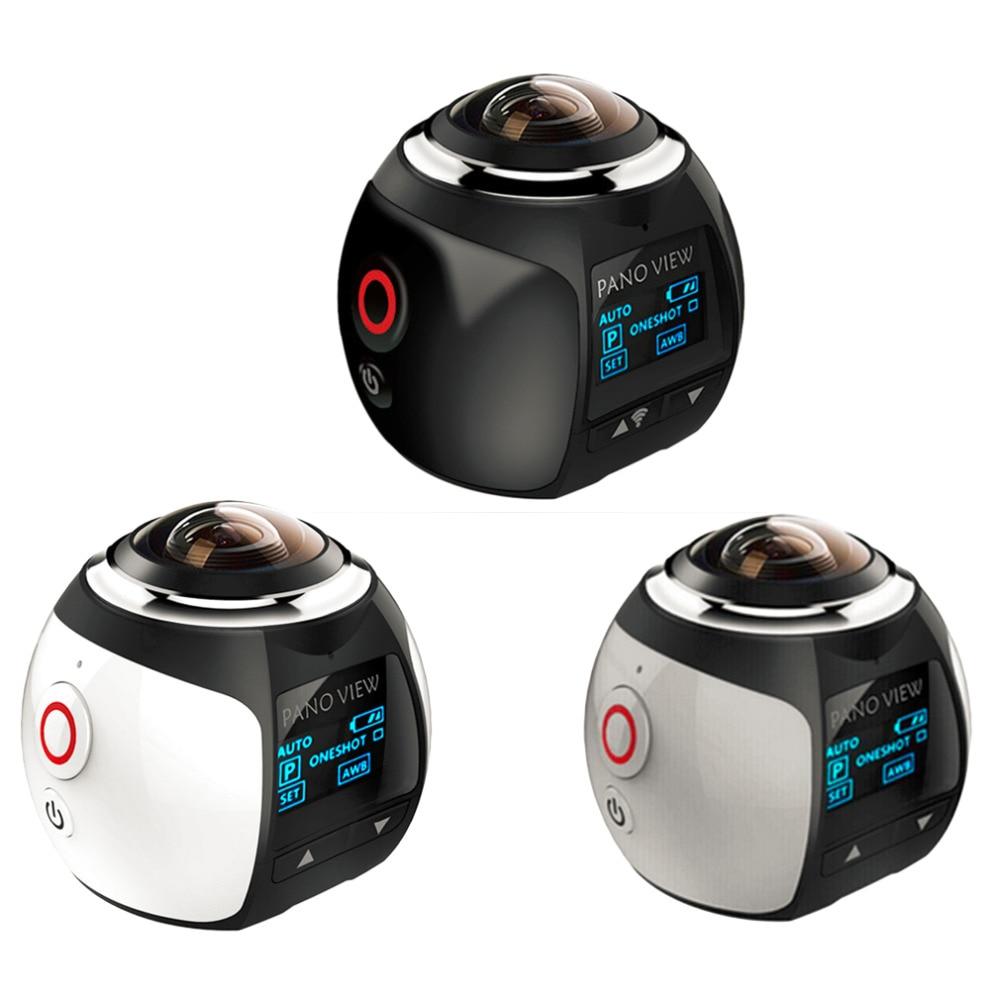 цена на 360 Action Camera Wifi Mini Panoramic Camera Ultra HD Panorama Camera 360 Degree Waterproof Sport Driving VR Camera