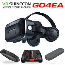 新しい vr shinecon 6.0 ヘッドセットアップグレード版仮想現実メガネ 3D vr ヘッドセットヘルメットゲームボックスゲームボックス