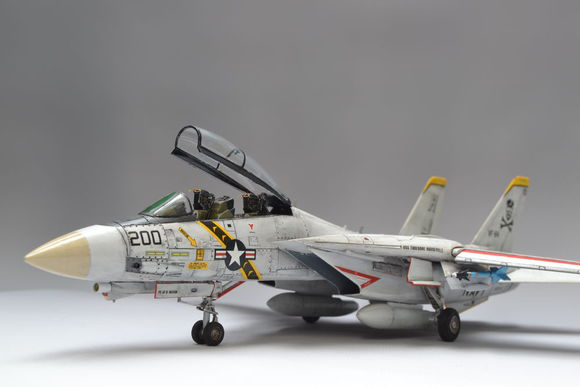 HASEGAWA 1/72 Scale Military Model Toys 00544 F-14A Tomcat Atlantic Fleet DIY Fighter Model Toy For Collection,Gift,Kids