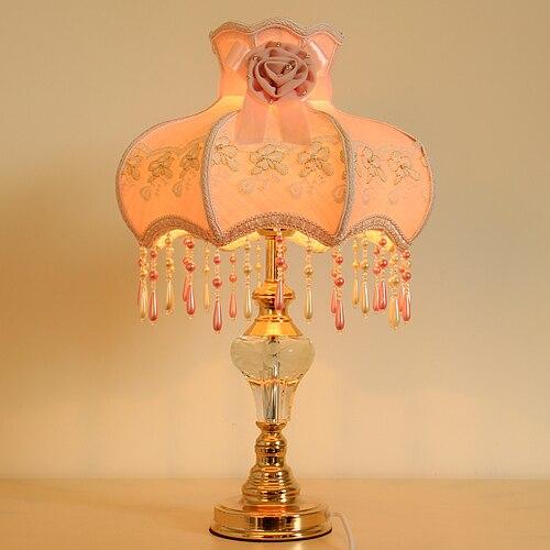 Французский Европейский пастырской теплая ткань лампы спальня ночники Ночная гостиная декоративные моды свадебный подарок