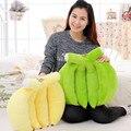 50 CM una pieza precioso plátano muñeca de la felpa regalos Brithday Super suave de algodón PP de peluche serie de la fruta Brinquedos juguetes para niños 2 colores