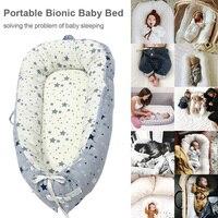 Переносная съемная и моющаяся кроватка для новорожденных, кровать-гнездо для путешествий, детская кроватка из хлопка, новая детская кроват...