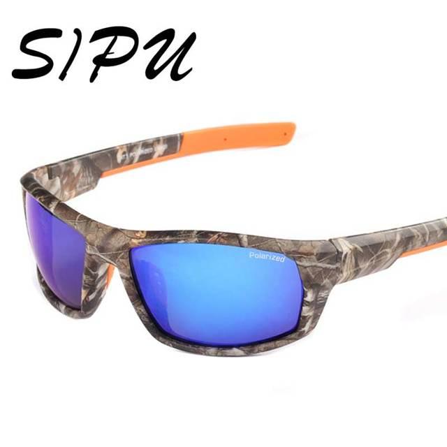 ba29a13d8 óculos de sol masculino camuflado 2016 polarizado retrô vintage óculos de  sol esporte ciclismo pesca masculino