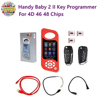 Handy Baby II Key Programmer 2 оригинальный ручной автомобильный ключ копия ключа программист для 4D 46 48 чипов бесплатное обновление онлайн