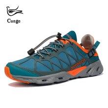 Cunge новый мужской дышащий Пеший Туризм обувь Открытый кроссовки для мужчин Для женщин болотных Пеший Туризм обувь сандалии треккинг сетки воды сандалии