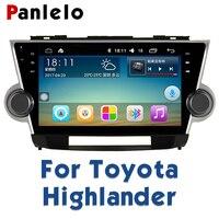 Panlelo For Toyota Highlander 2013 2012 2011 Autoradio 2 Din Android Car Radio GPS Car Radio Multimedia 10.2 Video Player