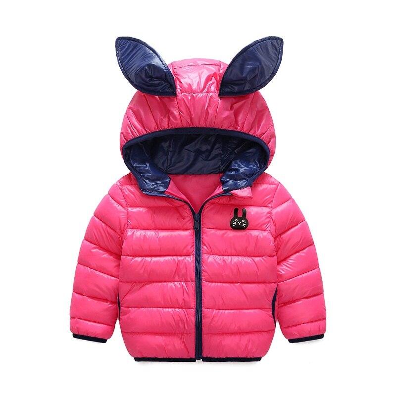 2017 зима новый стиль с капюшоном Малый меховые наушники детская хлопковая куртка 1-5 лет Обувь для мальчиков с хлопковой подкладкой для девоч...
