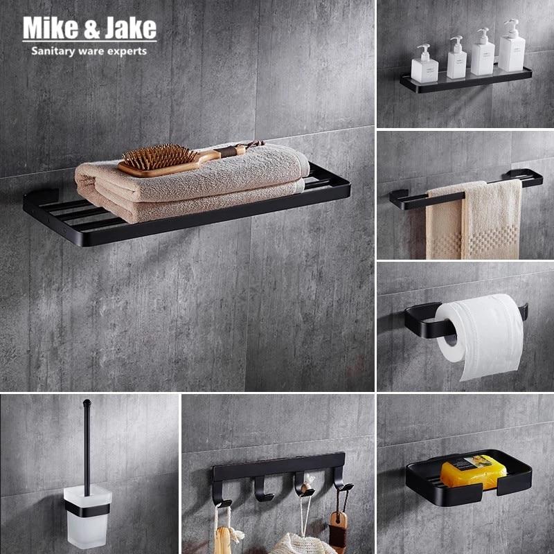 europe luxury black style bathroom towel shelf kit black towel shelf paper holder bathroom shelf black bathroom accessory mj7700