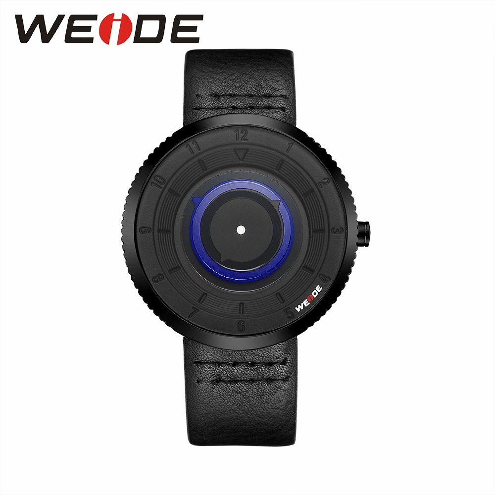 WEIDE NEW Leather Mens Watches Brand Luxury Waterproof quartz Watch Box automatic watches Men  Analog Clock fashion casual WD006
