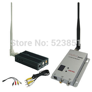 1.2GHz 3KM Long Range Wireless Video Transmitter and Receiver with 8 Channels, 2500mW 1.2G UAV Transmitter