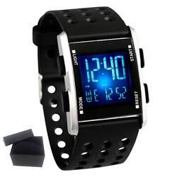 АИДИС интеллектуальные часы Электронные Водонепроницаемые часы Для мужчин Спорт светодиодный наручные часы Мода Повседневное Бегущий