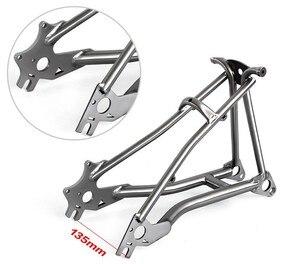 Image 3 - Titanio Triangolo Posteriore fit Brompton bici 135 millimetri di larghezza e forcella anteriore per rottura del disco di larghezza 100 millimetri