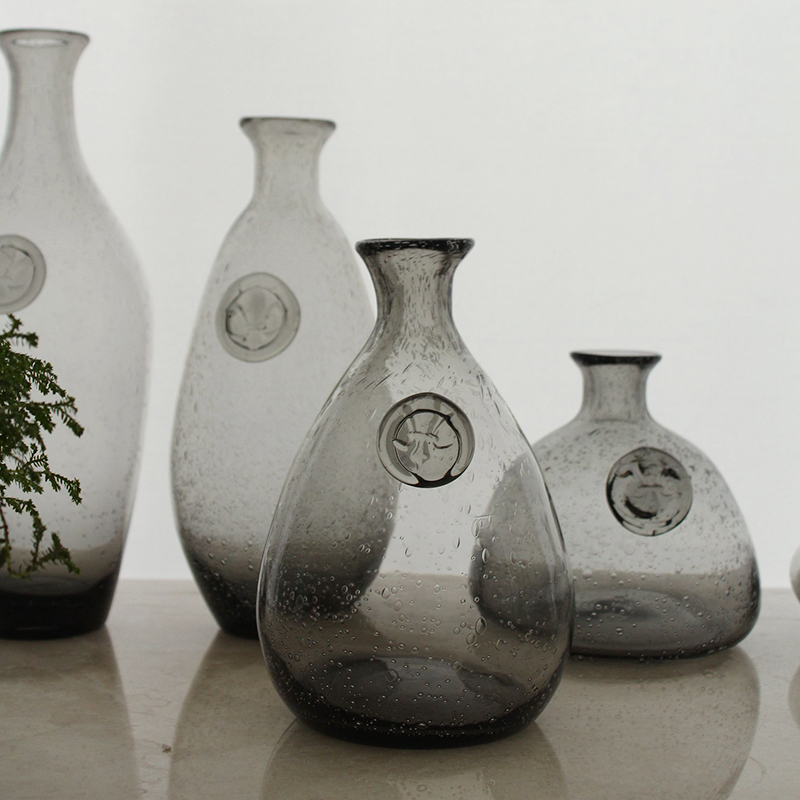 Fashion Creative Handmade Glass Bubble Vase Modern Minimalist Home