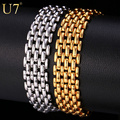 U7 Trendy Bracelet Men Jewelry Wholesale Gold Plated Popcorn Chain & Link Bracelets Bangles Gift H681