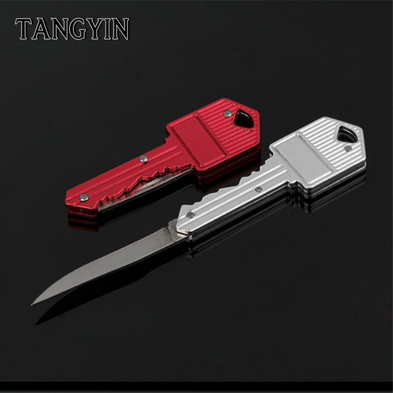 Direct High Hardness Folding Knife Key Chain Camping Outdoor Portable Survival Car Bag Keychain  Key Ring For Men Women Jewelry