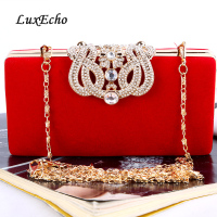 LuxEcho FLOCK BUCKLE handbags single Chain Bride wedding purse Fashion party evening bags Day clutches Shoulder bags