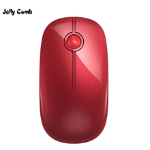 Jelly Comb 2.4G Wireless Mouse Red Color Slient Button 1600 DPI Optical Mute Mouses For Macbook Computer Mini Mice for Laptop PC